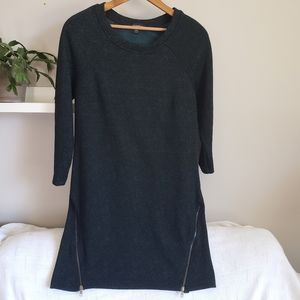 Le Chateau Teal/Black Textured Sweater Dress S